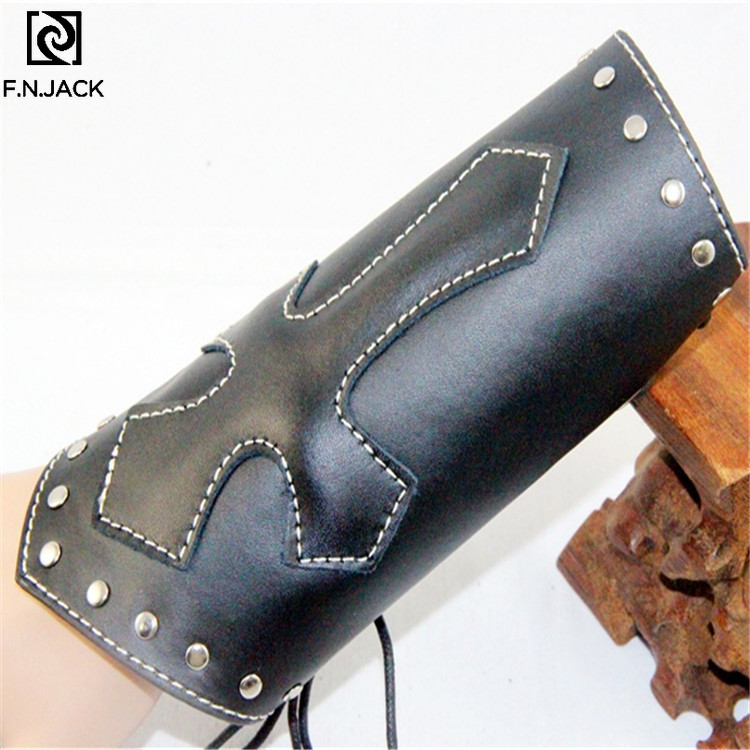 Punk Brace Cross Car Line Leather Hand Strap Steampunk Accessories  Arm Covers