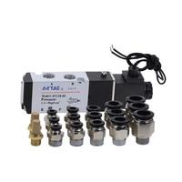 AIRTAC 4V110-06 5 طريقة 2 موقف 1/8