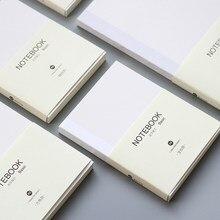 Yoofun-cuaderno A5 A6 de 80 hojas con cuadrícula en blanco y línea Horizontal, planificador, Agenda para oficina y escuela, suministros de papelería