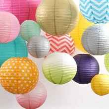 1pes 10inch(25cm)Chinese Lanterns New Year Decoration Round Paper Lantern Wedding Party Decoration X