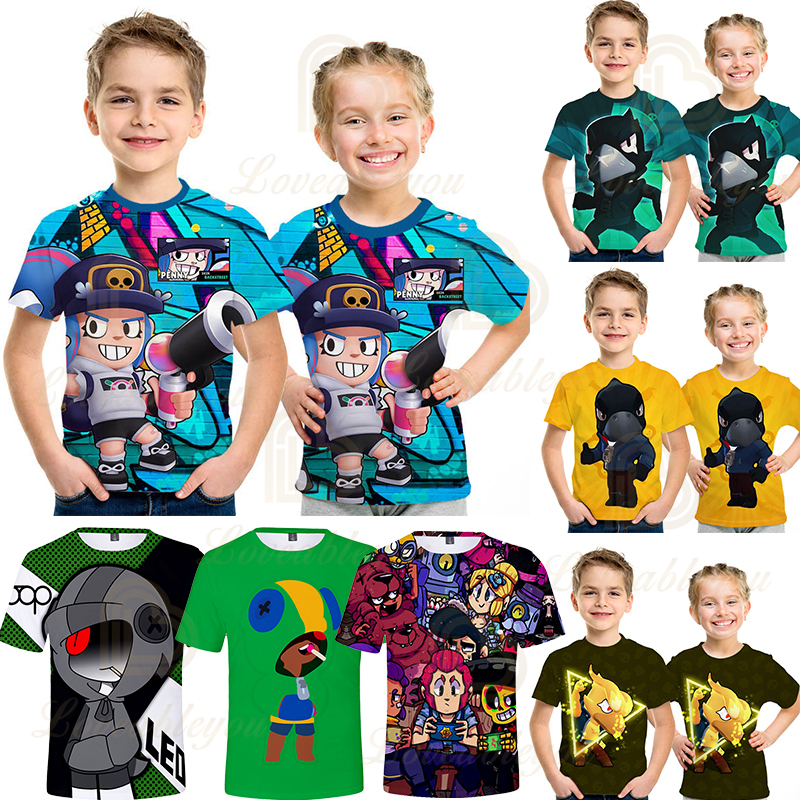 Kids 6 7-8 9-11 <font><b>12</b></font> Year T-shirt <font><b>3D</b></font> Printed Boy Girl Funny T-shirts Costume Children Clothing Kids Tees Baby image