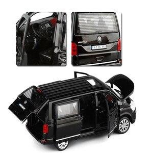 Image 5 - 1:32 아연 합금 버스 폭스 바겐 Multivan T6 밴 합금 장난감 자동차 다이 캐스트 MPV 모델 사운드 라이트 당겨 뒤로 어린이 선물 소년 장난감