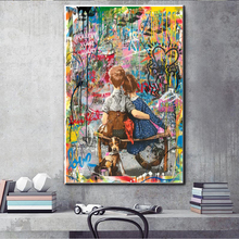 Graffiti Art Child Abstract Canvas Painting Wall Art Posters and Prints For Living Room Decoration Wall Pictures Home wall Decor graffiti art colorful rain prints on canvas modern canvas painting wall art posters and prints for living room home decoration