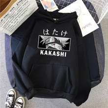 Anime naruto kakashi hatake sharingan design das mulheres dos homens hoodies moletom velo quente streetwear anime unisex roupas de dropship