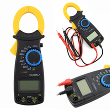 Digital Clamp Multimeter AC DC Current Voltage Amp Ohm Resistance Clamp Meter Electronic Multimeter Overload Protection dt266 electronic digital clamp meter multimeter ac dc current voltage tester tool