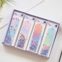 Cute Kawaii Creative Glitter Sequins Stars Bookmark Office School Index Bookmarks for Note Books Stationery Supplies цены