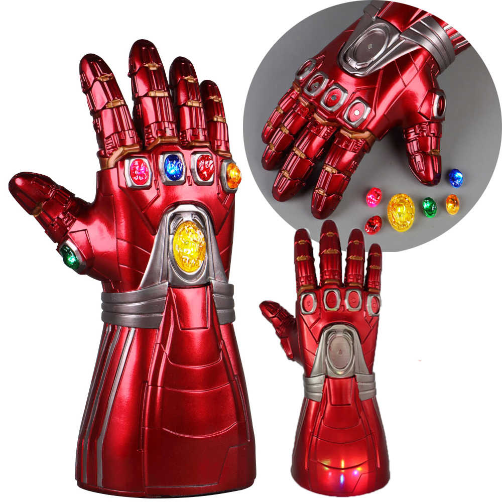 I Bambini di età Avengers Endgame IronMan Infinity Gauntlet Pietre Staccabile Led Luce Cosplay Thanos In Lattice Guanti Superhero Arma