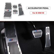 1 комплект, алюминиевый коврик для педали акселератора, автомобильные противоскользящие аксессуары для BMW F01, F02, F10, F20, F30, F31, F34, F48, F87, автомоби...