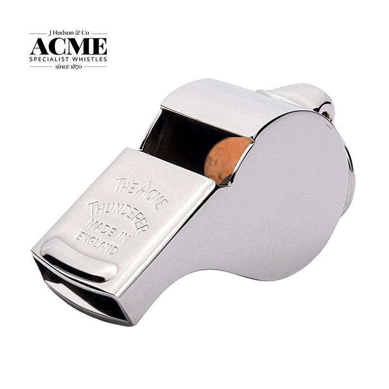 ACME 58 Thunderer Metal Copper Referee Designated Whistle Low Frequency Engineering Outdoor Large Survival High Decibel Whistle