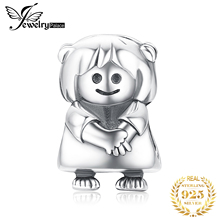 JewelryPalace Girl Doll 925 Sterling Silver Beads Charms Original For Bracelet original Jewelry Making