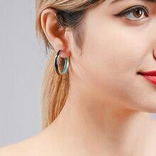 Wuli&baby New Enamel Dangle Earrings Women Black White Pink Circle