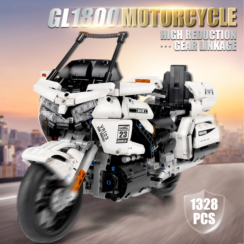 MOULD KING 23001 The Gold Wing GL1800 1:12 Motorcycle Building Blocks