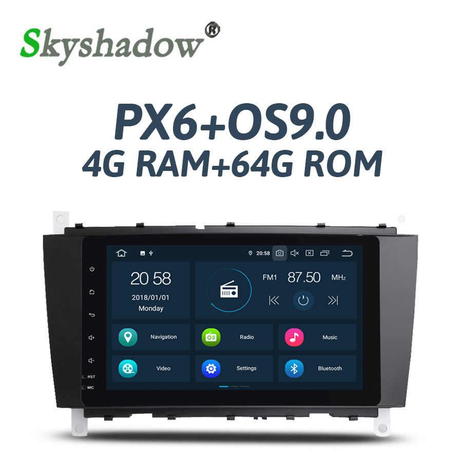 PX6 DSP Android 9 0 4 Гб + 64 ГБ Автомобильный dvd плеер RDS радио gps карта Bluetooth 2 Wifi для Benz W203 S203