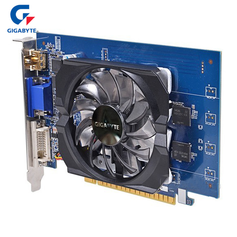 GIGABYTE Gaming Graphics Cards Nvidia Geforce GT730 2GB 64Bit GDDR5 Video Card For GT730 HDMI DVI PC Used Cards