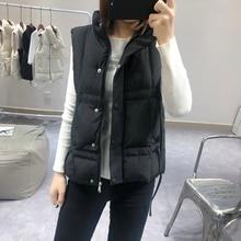 Winter 2019 New Thicken Vest Women Deep Autumn Solid Sleeveless Slim Puffer Jacket For Woman Stylish Korean Style Black Coat