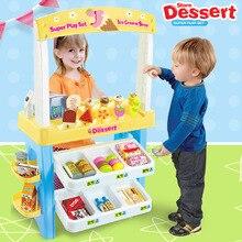 Дети Мороженое Машина конфеты Десерт Дом удобство магазин супермаркет торговый Касса стол игрушка набор для девочек