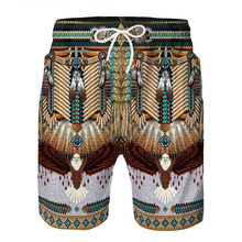 Men Shorts Indian Style 3D Printed Casual Funny Summer Shorts Beach Clothing(China)