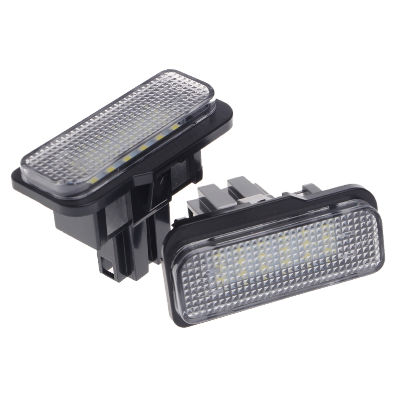 2 Pcs No Error 18 LED SMD License Plate Light For Benz W203 W211 W219 <font><b>R171</b></font> New image