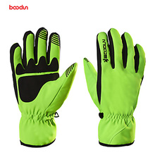 Boodun Winter Thermal Warm Bicycle Snow Skiing Gloves Breathable Bike Cycling Riding Gloves Full Finger Skiing Motorcycle Gloves