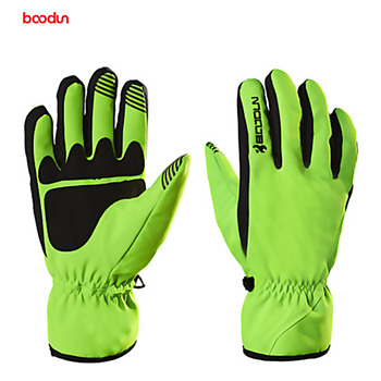 Boodun Winter Thermal Warm Bicycle Snow Skiing Gloves Breathable Bike Cycling Riding Gloves Full Finger Skiing Motorcycle Gloves boodun 4 10 years old kids full finger cycling gloves skate sport mtb riding bmx mountain bike bicycle gloves for boys and girls