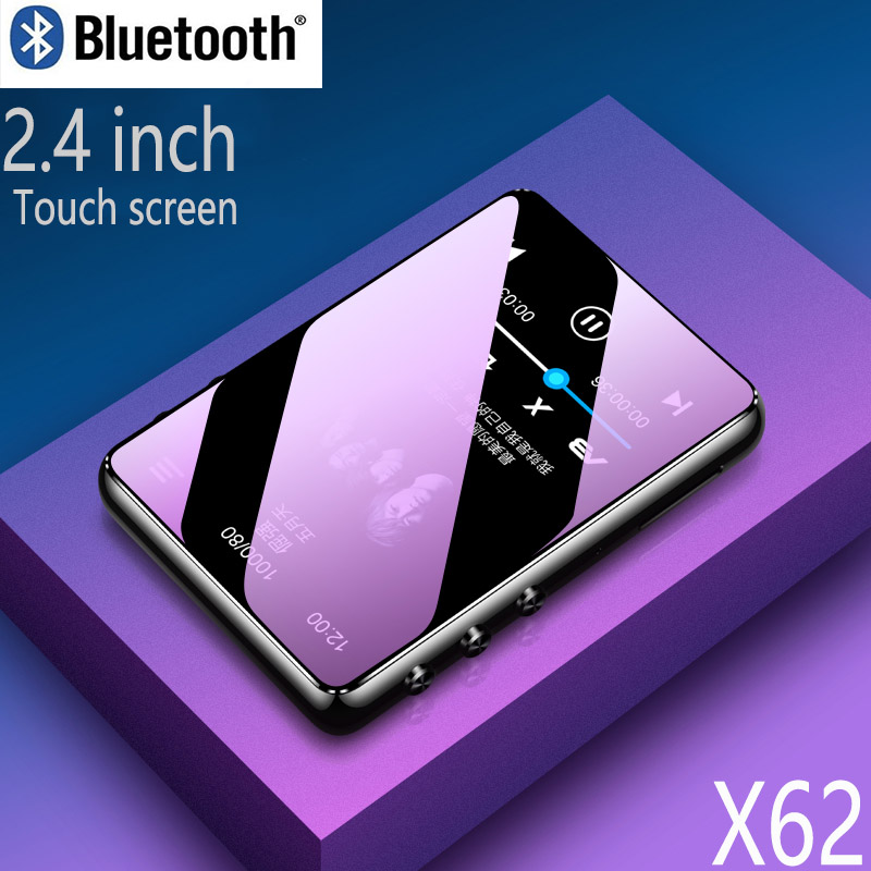 Bluetooth 5.0 Mp3 Player 2.4inch Full Touch Screen Built-in Speaker With E-book FM Radio Voice Recorder Video Playback