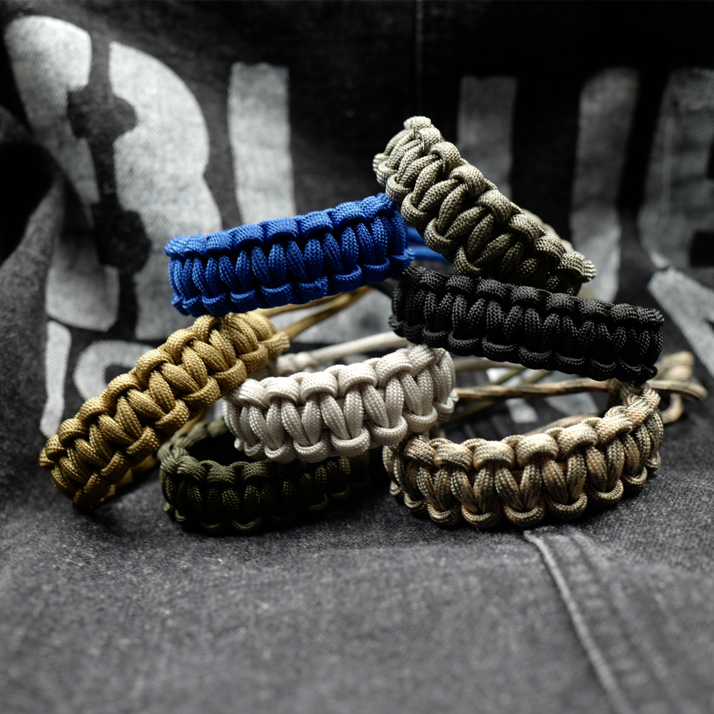 Blue PARACORD WRISTBAND Survival Camping Hiking Cord Bracelet All Sizes