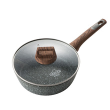 Maifan stone non-stick pan deep frying pan pan frying pan pot soup pot induction cooker gas stove universal kitchen pot  wok stylish kitchen no oil smoke non stick frying pan frying pan soup pot aluminum compound bottom set gift pot