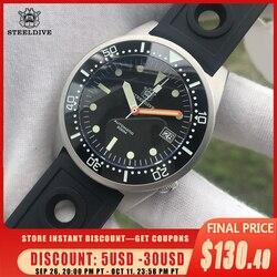 STEELDIVE 1979 Shark Diver Mechanical Watch 200m Waterproof Diving Wristwatches Ceramic Bezel NH35 Automatic Men Watch