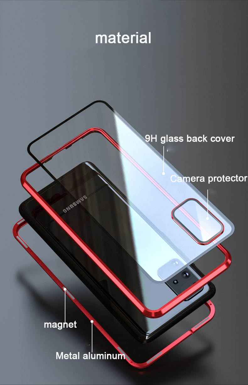 Magnetic Case For Samsung Galaxy S20 Ultra 360 full Protection Glass Case For Samsung S20 Plus Case with with camera lens film