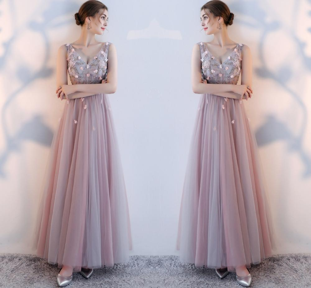 Formal   Evening     Dresses   2019 Long Appliques Beading Sexy Bride Banquet Elegant Floor-length Party Prom   Dress   Robe De Soiree