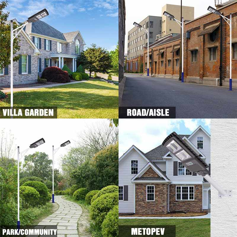 300W 600W 900W IP65 LED Solar Street Light Radar Motion Wall Lamp no/ with Remote Control for Villas Garden Yard and Pathway 4