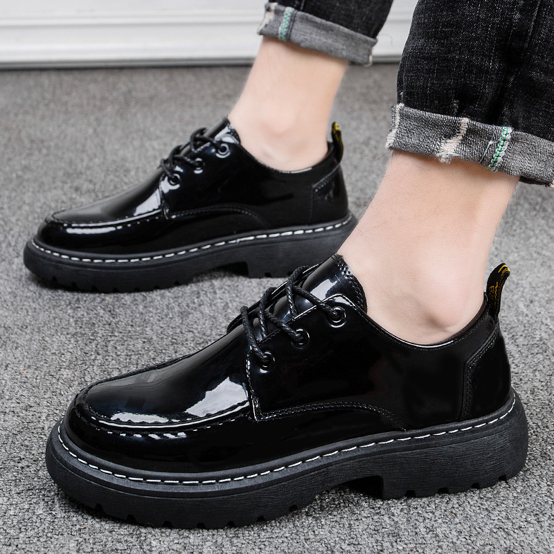 New Big Size Brand Patent leather Men Shoes Spring Oxford Shoes Fashion Casual Designer Male Martin Shoes Leather Moccasins