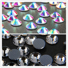 All Sizes SS4-SS40 Crystal AB & White Hotfix Rhinestones Glass Strass Iron For Nail Art Sewing Shoes Crafts& Fabric Decoretion
