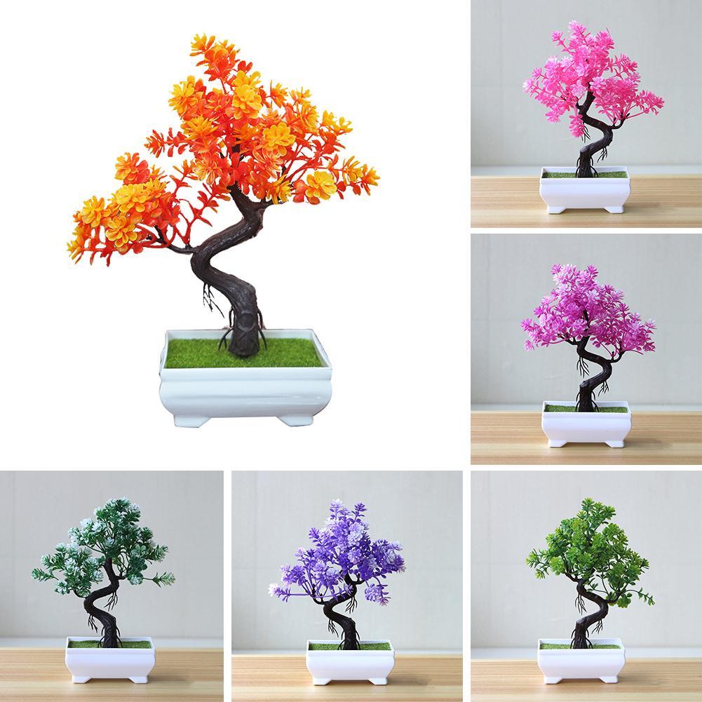 1Pc Fashion Artificial Potted Tree Bonsai Simulation Plant Table Centerpieces Artificial Plants Home Decor