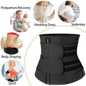 Image 4 - Steel Boned Waist Corset Trainer Slimming Belt Sauna Sweat Sport Girdles Modeladora Women Shaper Burning Fat Workout Trimmer