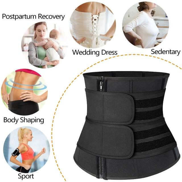 Steel Boned Waist Corset Trainer Slimming Belt Sauna Sweat Sport Girdles Modeladora Women Shaper Burning Fat Workout Trimmer 3