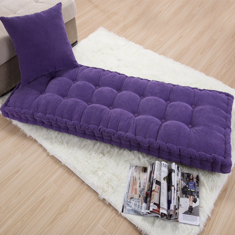 Thick Cushion Garden Chair Cushions Home Office Decoration Long Cushion Solid Color Tatami Cushion Customizable Floor Cushion