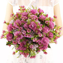 Artificial Carnation Flowers for Christmas Silk Flower Wedding Bouquet 5 Branches Home Table Centerpiece Decoration