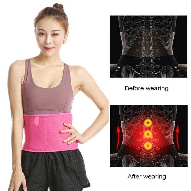 Women Adjustable Elastic Waist Support Belt Buna Lumbar Back Sweat Belt Slimming Fitness Belt Waist Trainer for Running Yoga 3
