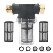 3/4Inch Garden Hose Filter for Pressure Washer Inlet Water, Sediment Filter Attachment for Outdoor Gardening Water Inlet Filter