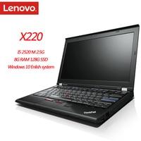 Novo notebook lenovo thinkpad x220, 8gb ram, 1280x800, 12 polegadas, win10, sistema de diagnóstico em inglês, pc e tablet