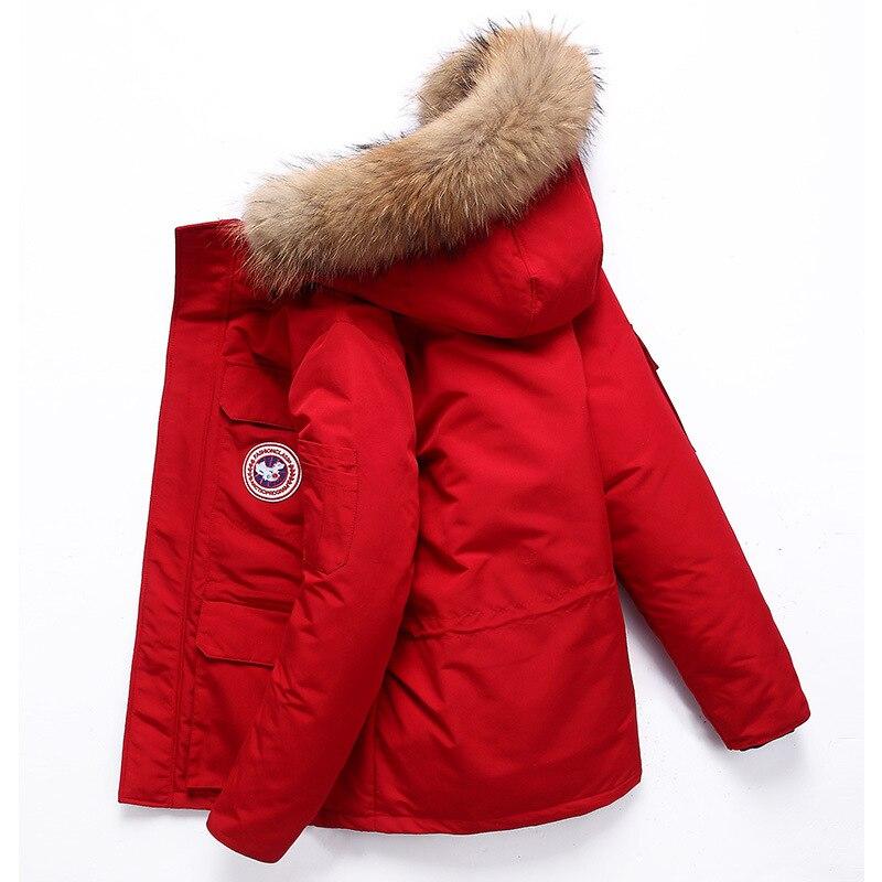 Thick winter men jacket   Coat   brand Canada white duck   down   jacket men fur collar doudoune homme casual business men's   coat