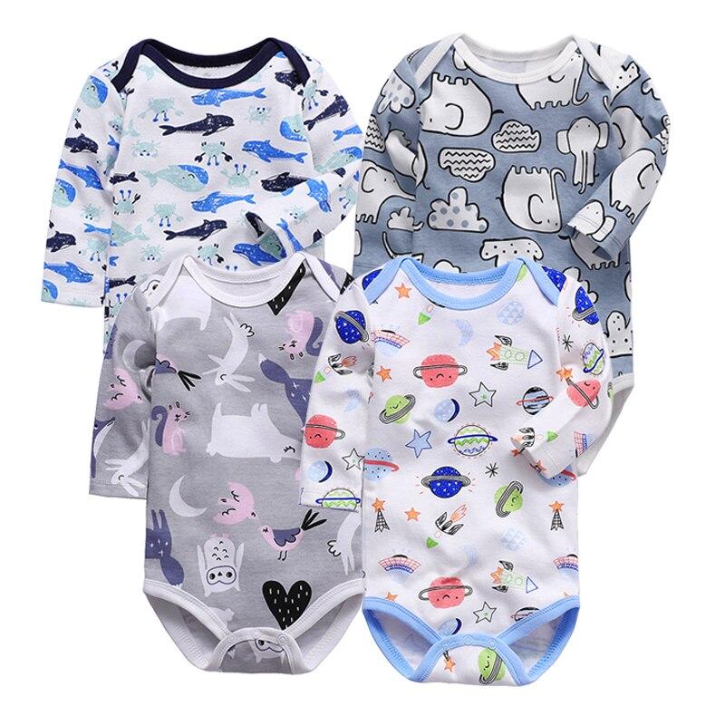 Newborn Infant Cute Cotton Long Sleeve Unisex Bebe Boy Girls Bodysuit Baby Clothing Leotard Body Tops