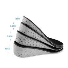 1 par unissex confortável altura aumentar palmilhas de espuma de memória inserção mais alto invisível palmilhas sapatos pés até almofada almofada
