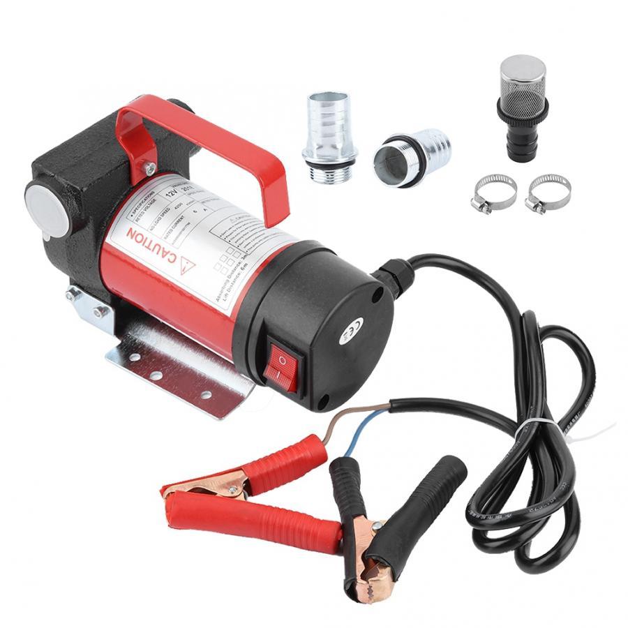 12V El/éctrico Extractor de Fluido Diesel Bomba de Transferencia de Auto Petr/óleo con Boquilla de Combustible