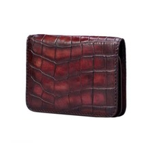 feidengshi true  crocodile  Card package  Men's wallet  Men's bags  Popular logo  creative  youth  Many card  contracted  person