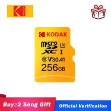 Kodak-tarjeta Micro SD de alta velocidad U1, 16GB, 32GB, Clase 10, U3, 4K, tarjeta de memoria Flash de 128GB, 256GB