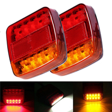 2pcs 12V 24V LED Rear Light Stop Tail Indicator Truck Trailer Van Bus Pickup Bike 4x4 20 Leds Durable Car Warning Lights 10-30V