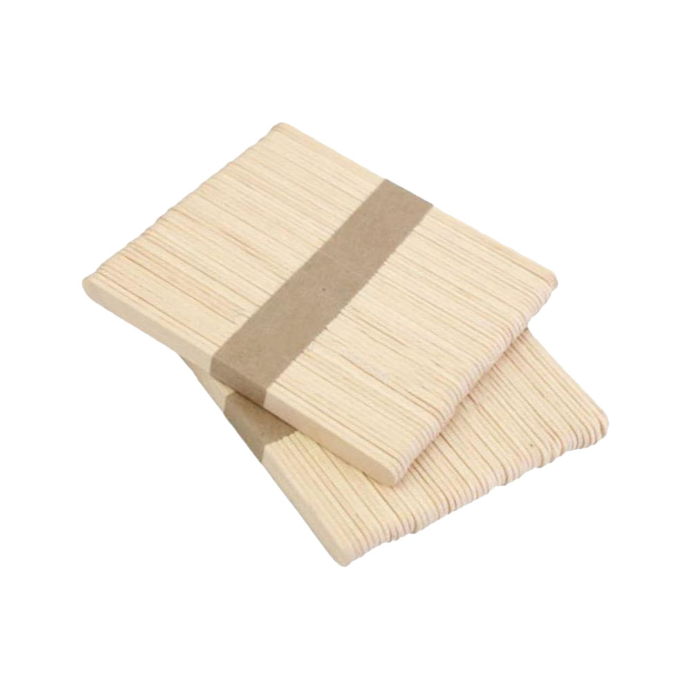 50Pcs Wooden Pop DIY Craft Slim Sticks Small Cudgel for Roasting Ice Cream Maker
