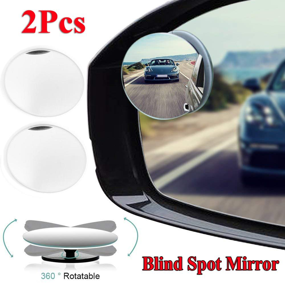 New Upgrade 2PCS Round Blind Spot Mirror HD Glass Frameless Convex Rear View Mirror 360° New Carro Wholesale Quick Delivery CSV
